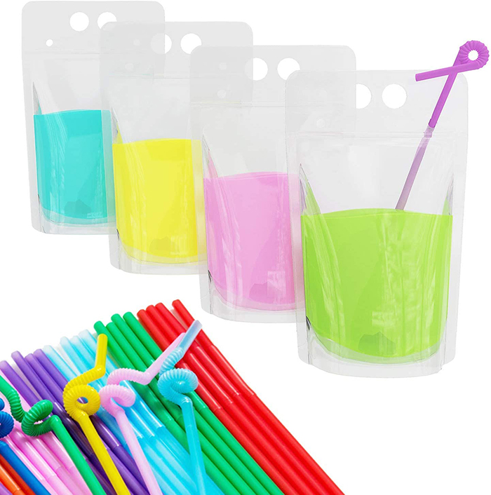Drink Pouches with Straws