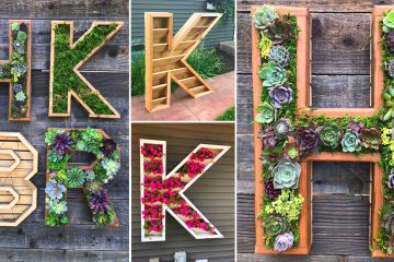 Giant Letter Shaped planters