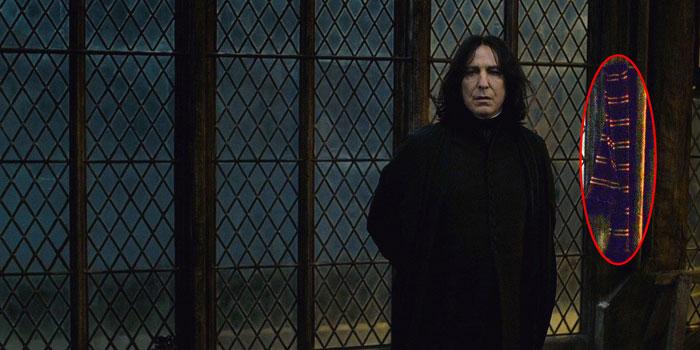 Gryffindor Scarf in Snape's Death Scene