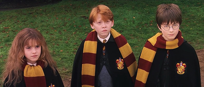 Hermione, Ron, Harry Potter Scarf Styles