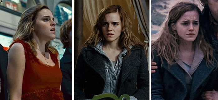 Hermione's Hair Length throughout Harry Potter and the Deathly Hallows Part 1
