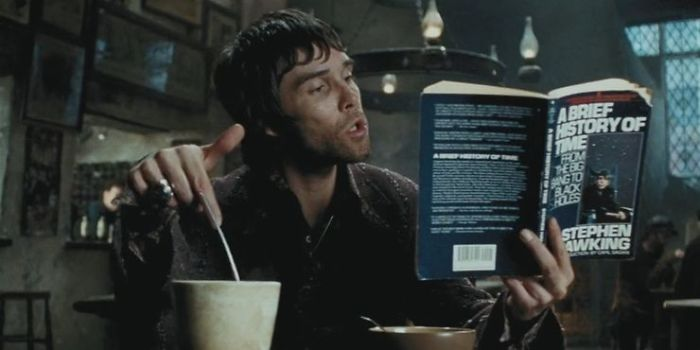 Ian Brown Reading Stephen Hawking's A Brief History of Time in Prisoner of Azkaban