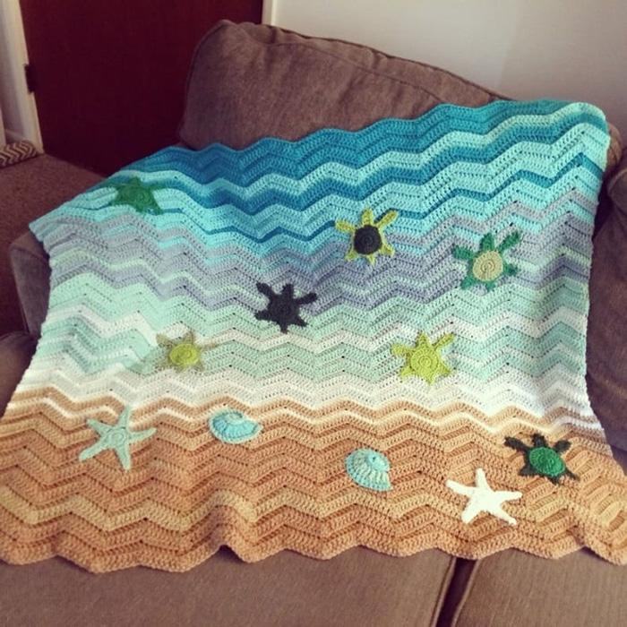 KatiesCrochetPage Crochet Sea Turtle Blanket