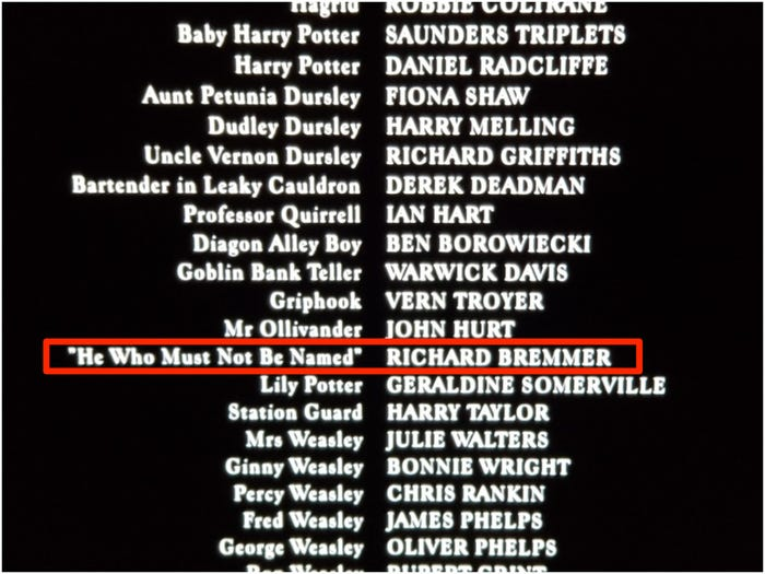 Lord Voldemort Actor Credited as He Who Must Not Be Named in the Sorcerers Stone