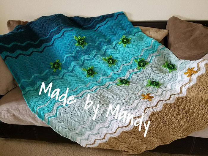 MadeByMandy86 Sea Turtle Beach Blanket