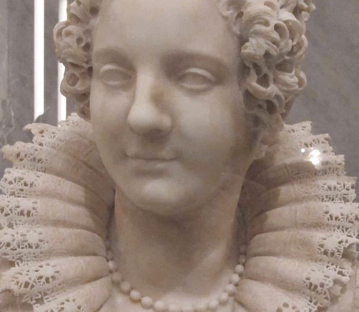 Maria Duglioli Barberini Sculpture by Giuliano Finelli Head Details