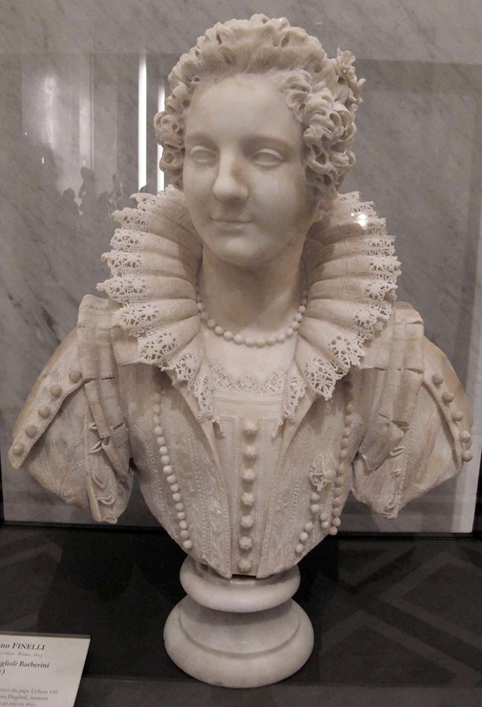 Maria Duglioli Barberini Sculpture by Giuliano Finelli