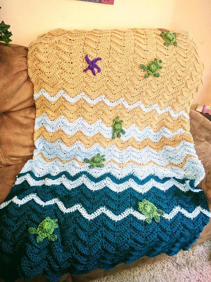 NerdyCrochetist Crochet Duvet with Starfish and Hatchling