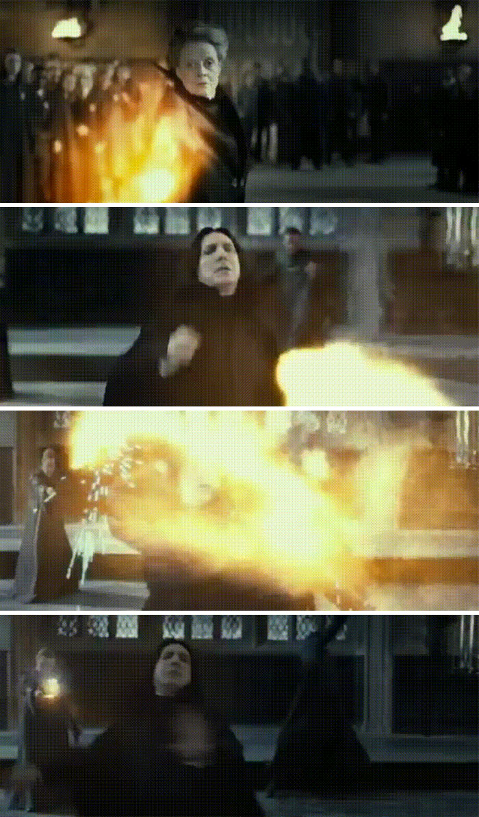 Snape Helping the Order of the Phoenix in Deathly Hallows Part 2