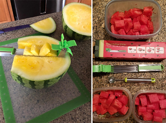 automatic fruit cubes slicer