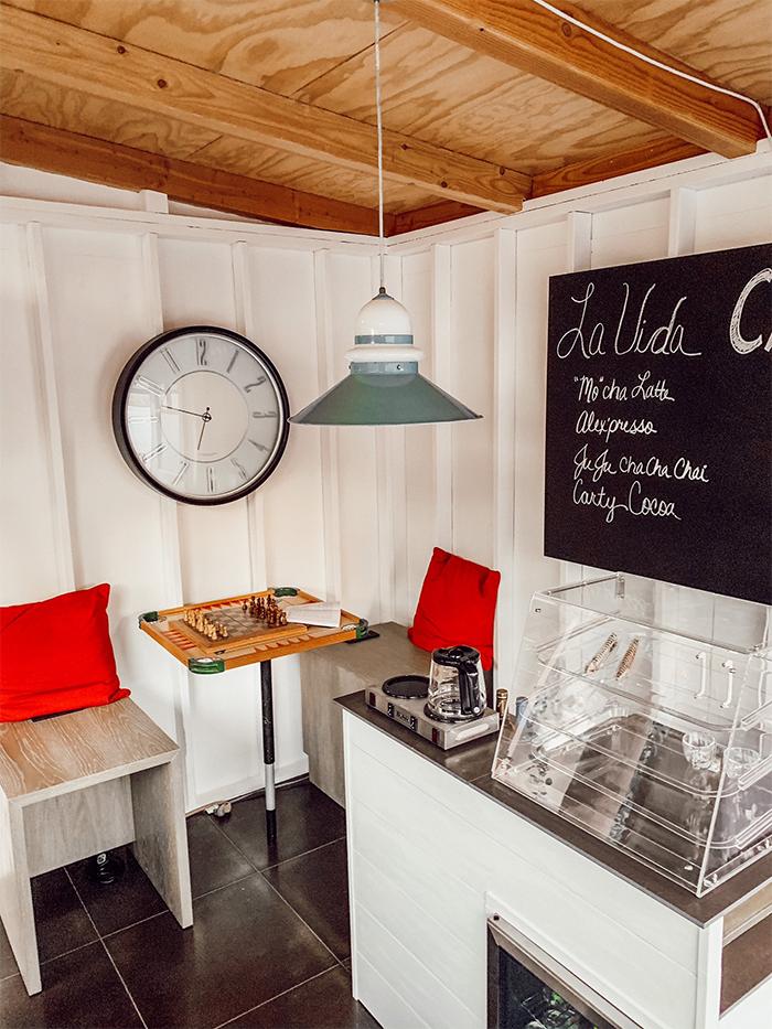 backyard coffee shop interior