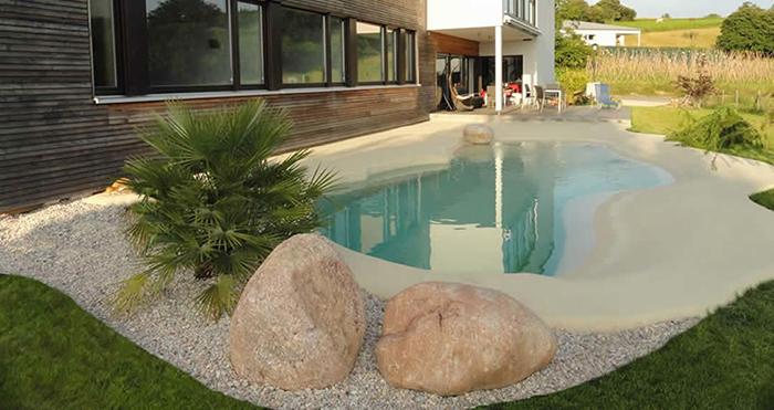 backyard pool looks like real beach