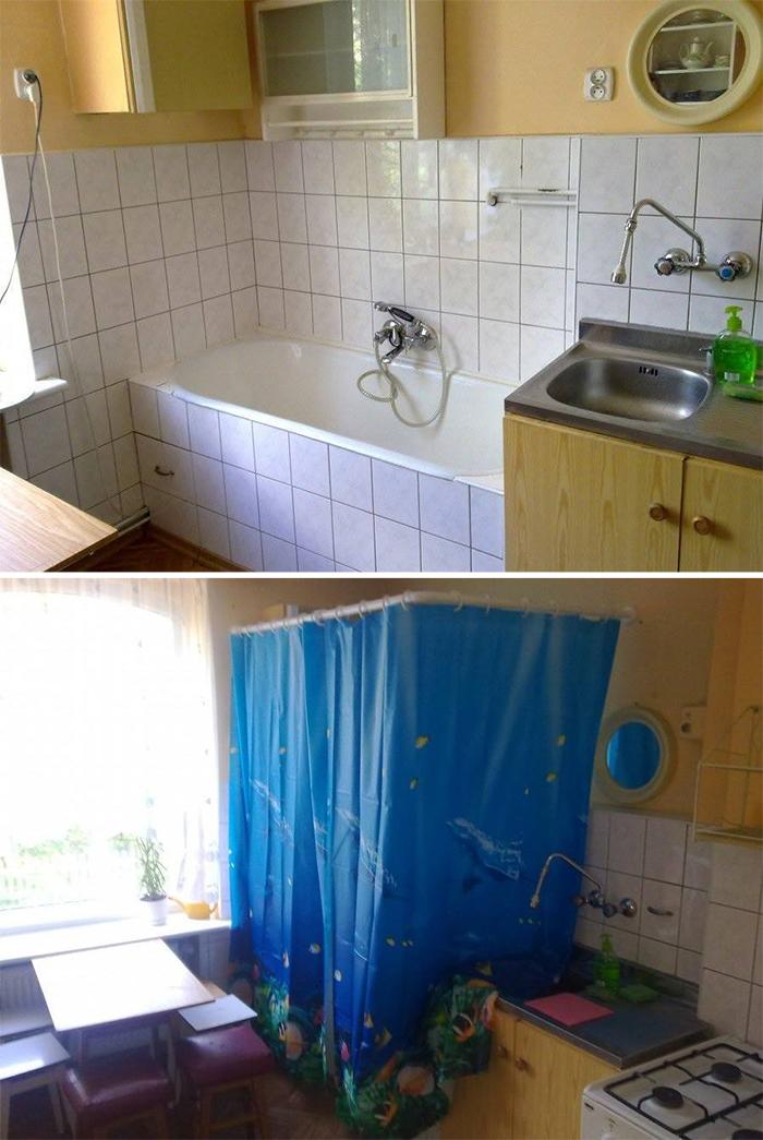 bad kitchen designs bathtub