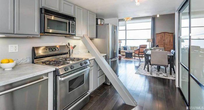 bad kitchen designs diagonal support beam