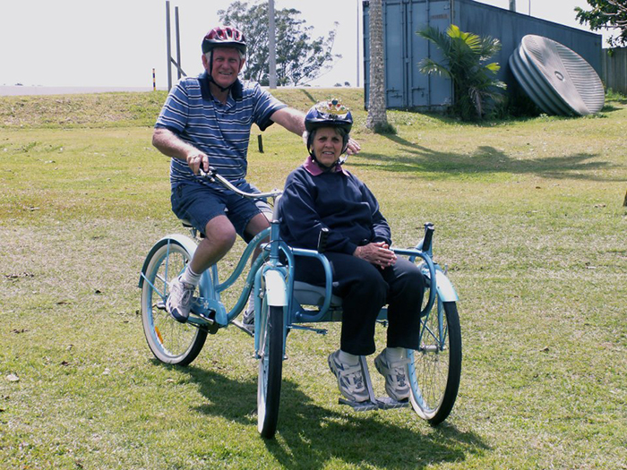 bill forward and wife bicycle ride