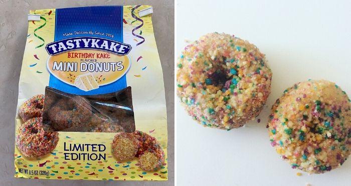 birthday cake-flavored mini donuts