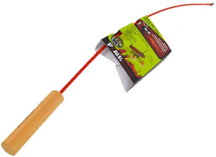 campfire fishing rod red