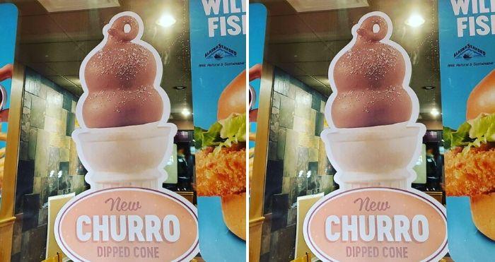 churro dipped cone