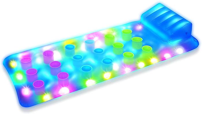 deluxe illuminated pool raft