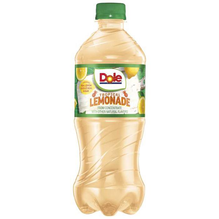 dole tropical lemonade 24oz bottle