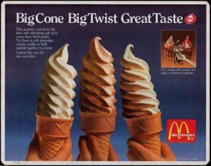 fast food chain twist cones