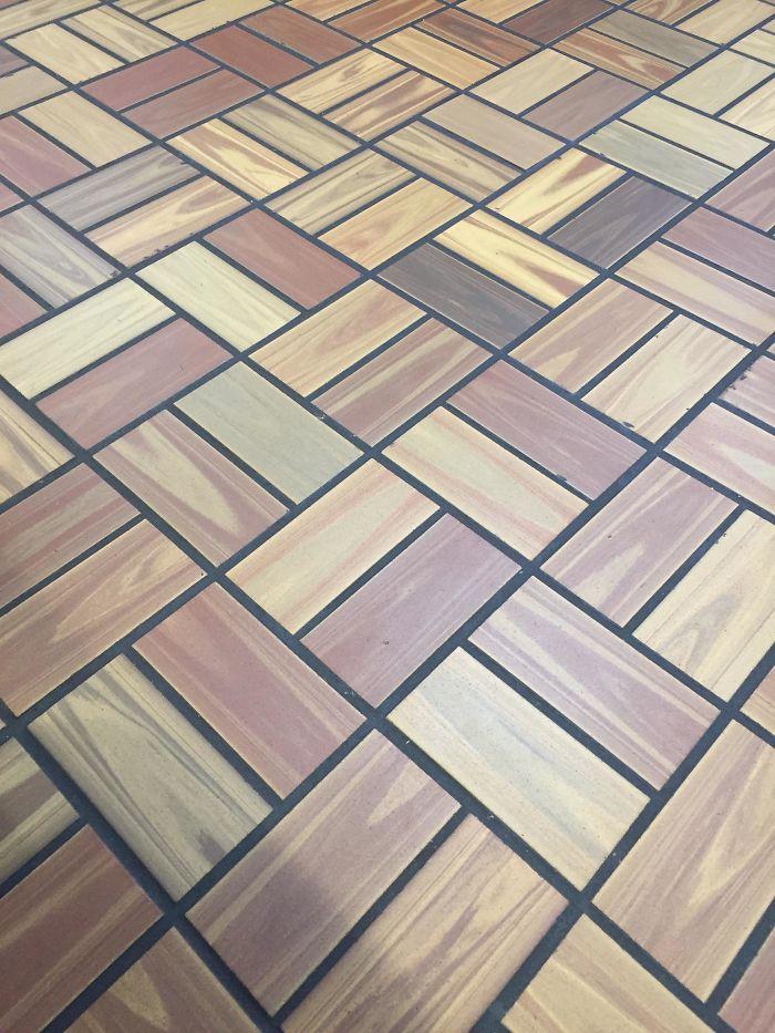 fast food restaurant 90s floor tiles
