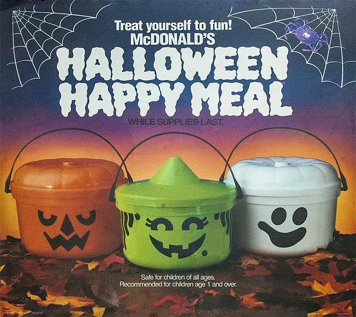 halloween happy meal spooky buckets