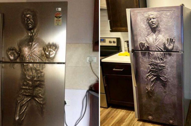 han solo fridge decal