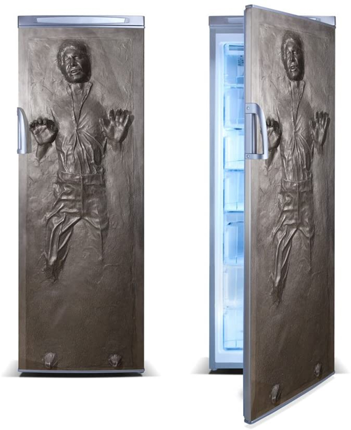 hans solo in carbonite vinyl fridge decal