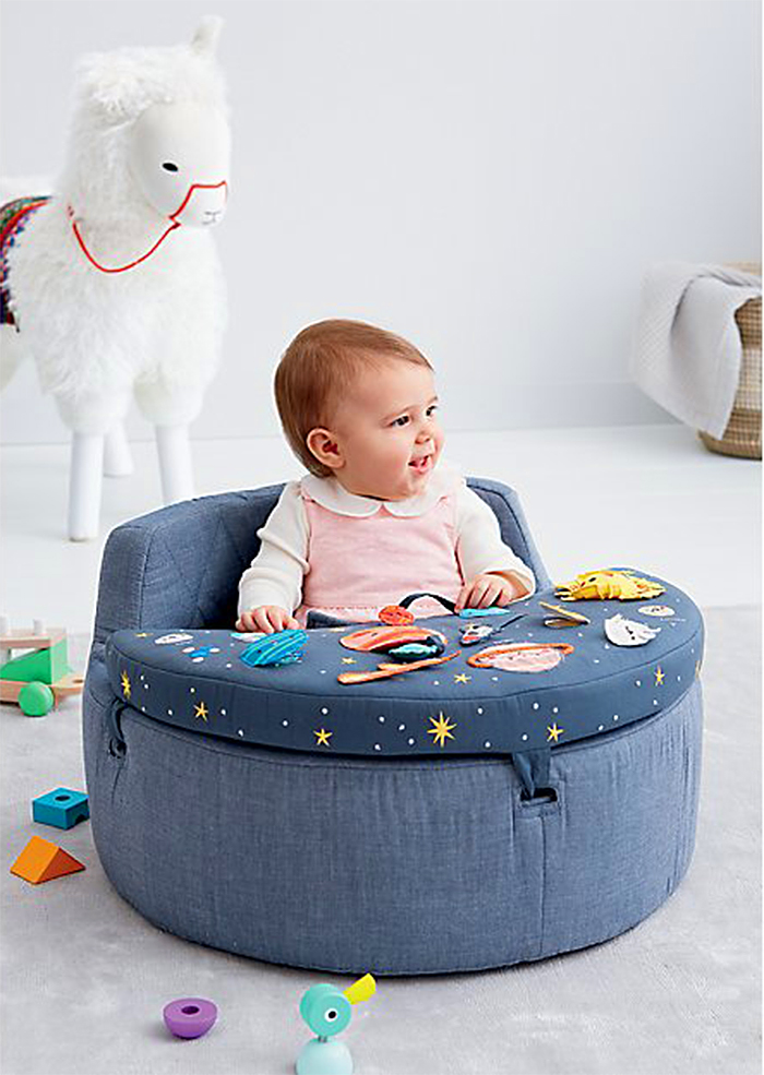infant seat with removable tray