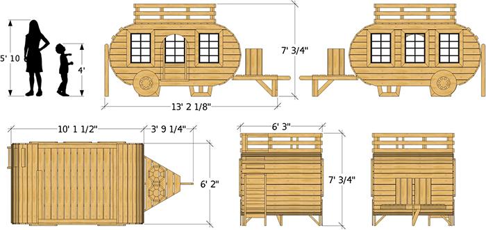 kids camping playset details
