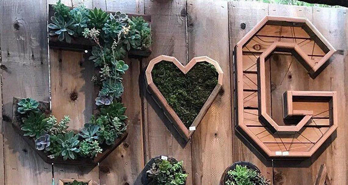 letter shaped planters 20 inches