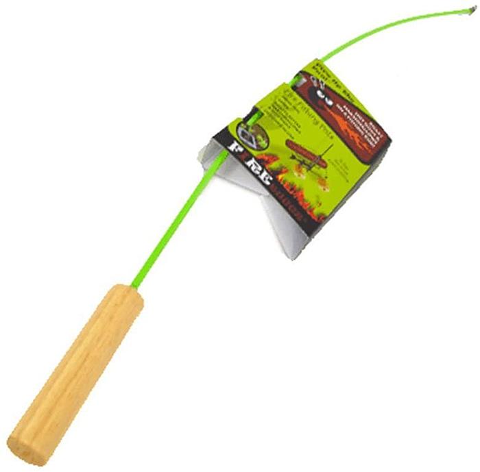 marshmallow roaster fish pole green