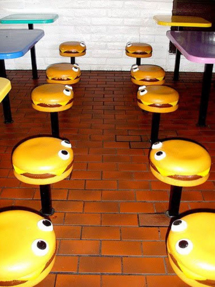 mcdonald's burger seats