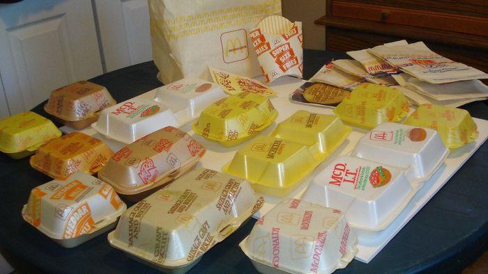 mcdonald's styrofoam containers