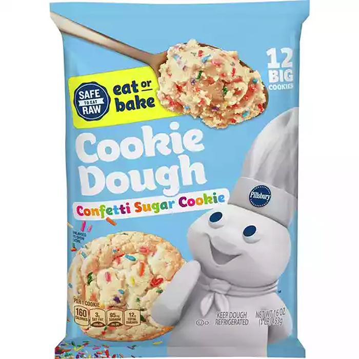 pillsbury confetti sugar cookie dough