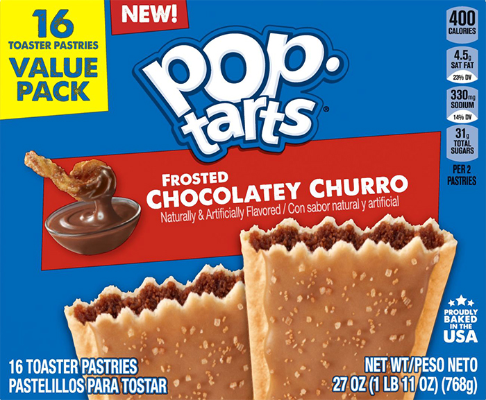 pop-tarts frosted chocolatey churro flavor