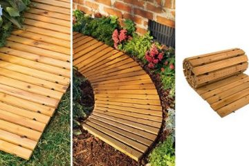 roll-out wooden walkway