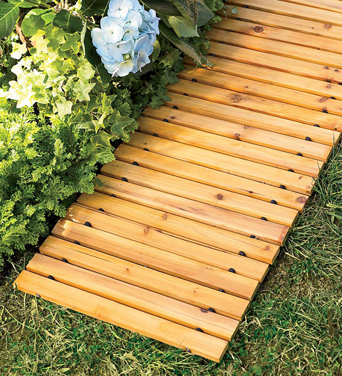 roll-out wooden walkway straight