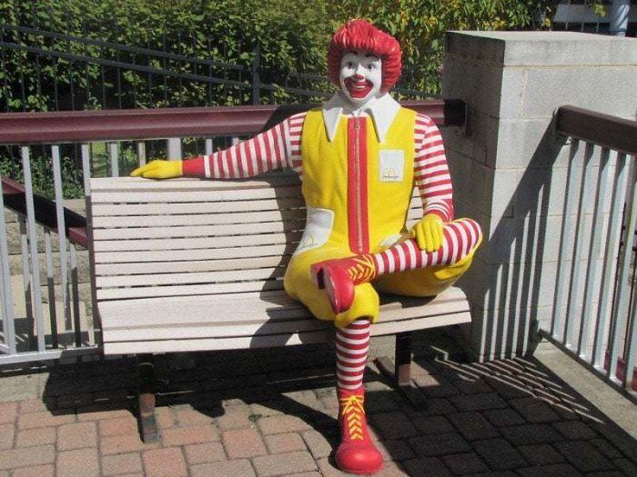 ronald mcdonald bench