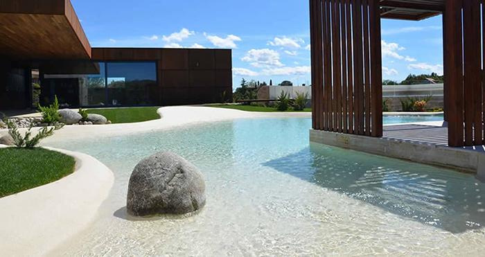 sand pools backyard