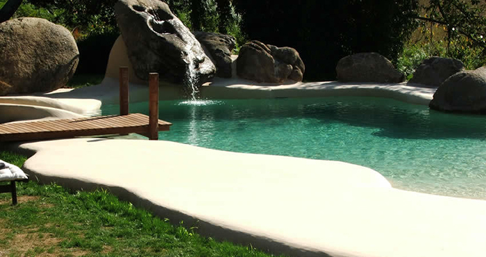 sand pools made with compacted sand