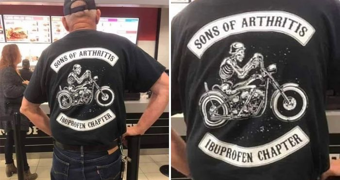 sons of arthritis ibuprofen chapter t-shirt