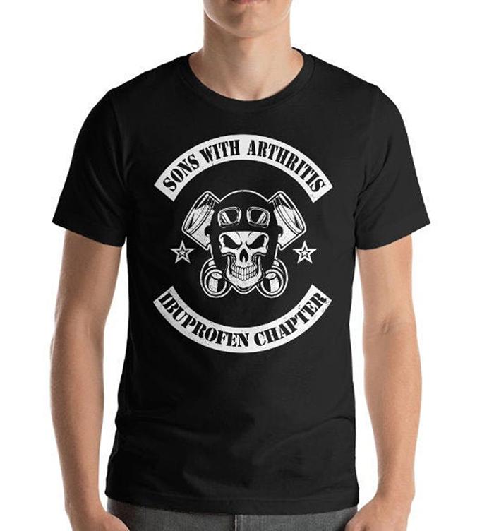 sons with arthritis ibuprofen chapter shirt black