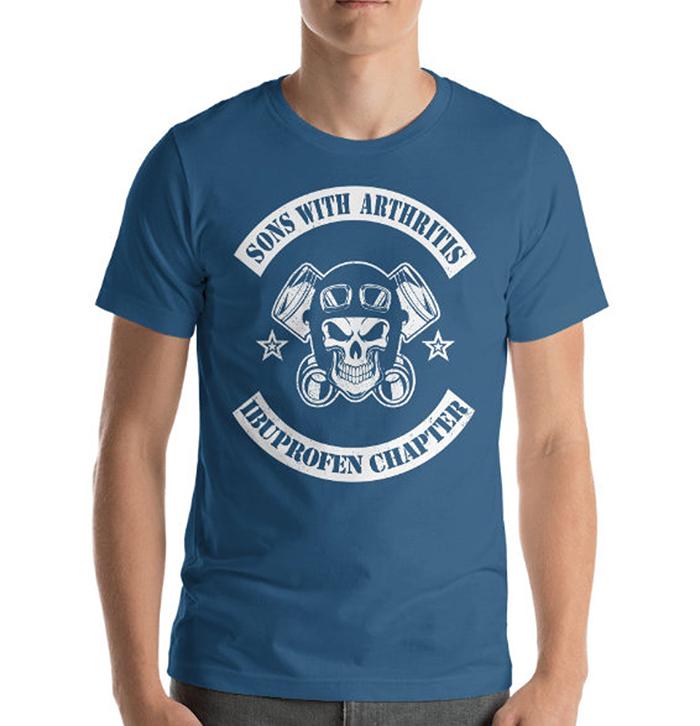 sons with arthritis ibuprofen chapter shirt blue