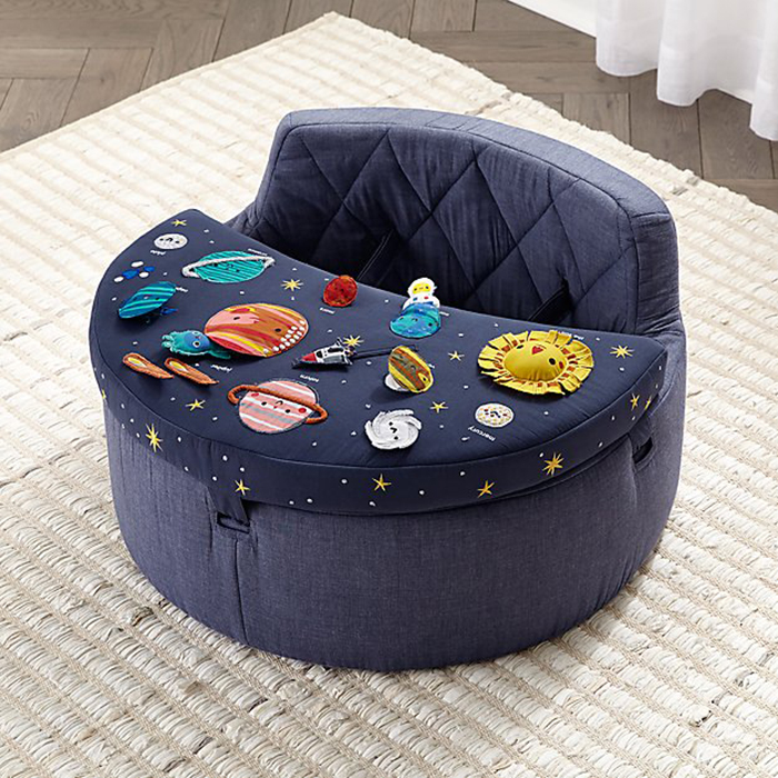 space-inspired baby activity chair