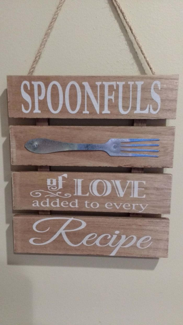 spoonfuls of love sign fork