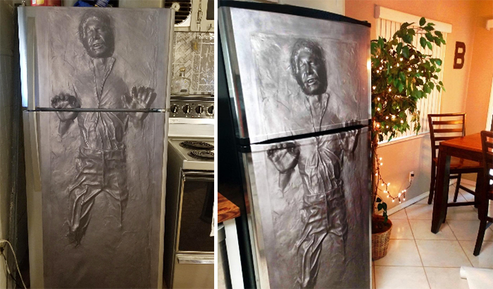 star wars hans solo fridge decal