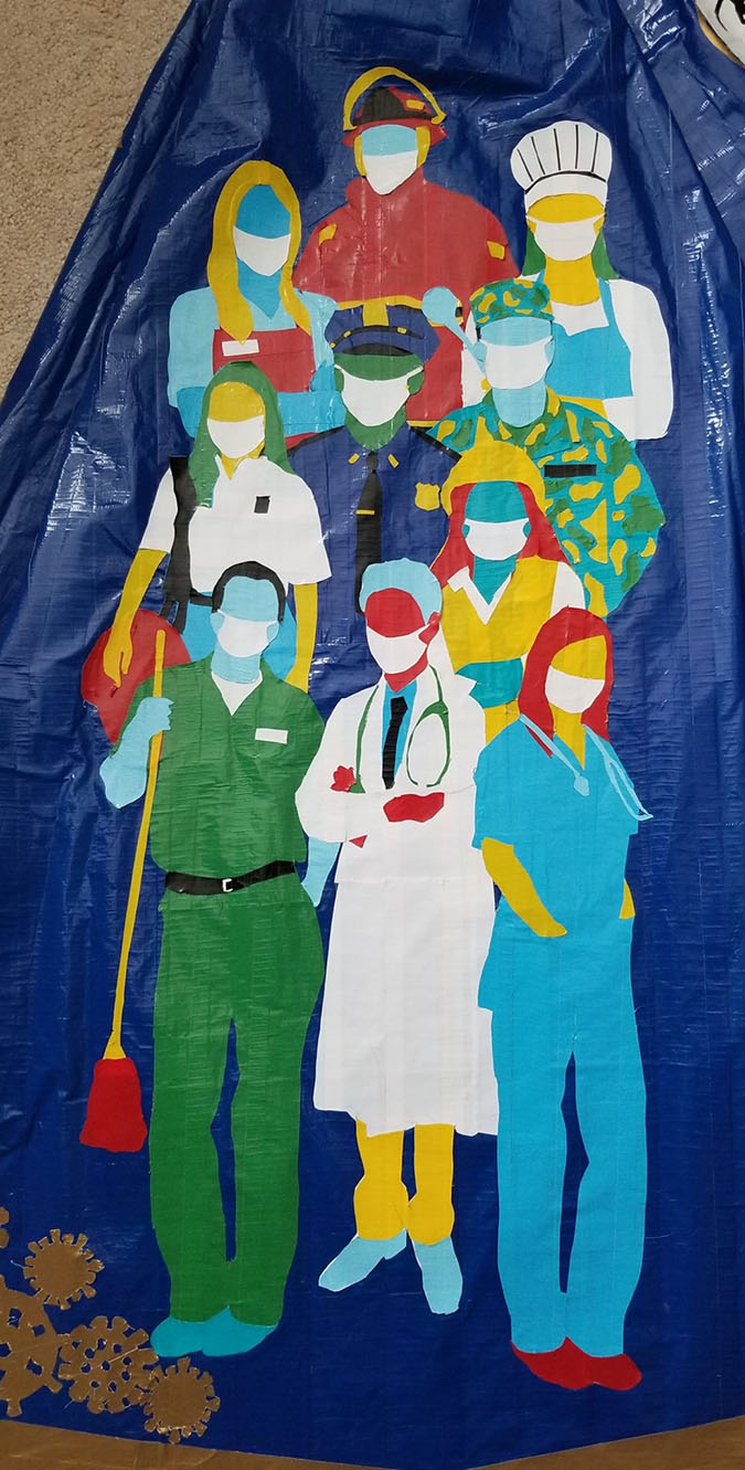 tribute to essential and healthcare workers