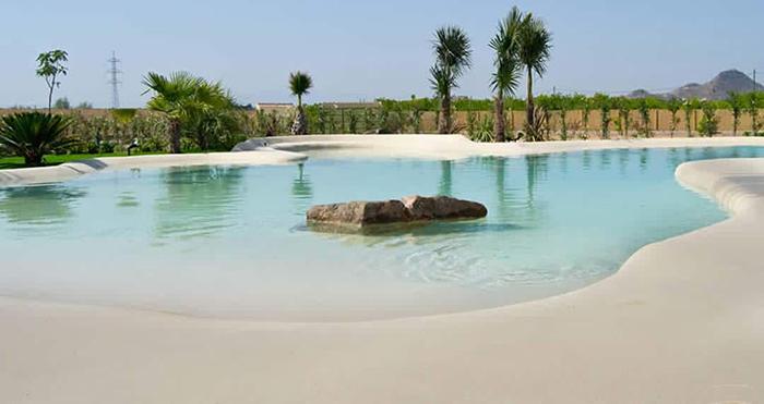 tropical beach structure backyard